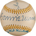 Autographs:Baseballs, 1951 Connie Mack, Kid Nichols & Fred Clarke Signed Baseball....