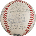 Autographs:Baseballs, 1946 St. Louis Cardinals Team Signed Baseball from The Stan Musial Collection....