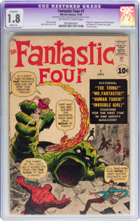 Fantastic Four #1 (Marvel, 1961) CGC Apparent GD- 1.8 Slight (A) Off-white to white pages