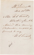 Autographs:U.S. Presidents, Ulysses S. Grant Autograph Letter Twice Signed...