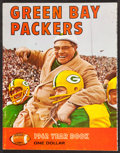 Football Collectibles:Publications, 1962 Green Bay Packers Rare Red Variation Yearbook - High Grade! ...
