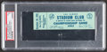 """Football Collectibles:Tickets, 1962 NFL Championship Game Packers vs. Giants Full """"Yankee Stadium Club"""" Ticket, PSA Graded...."""