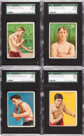 Boxing Cards:General, Scarce 1910 T219 Miners Extra Boxing SGC Group (5). ...