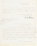 "Autographs:Statesmen, Alexander J. Dallas Document Signed as Secretary of the Treasury""A. J. Dallas.""..."