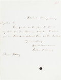 "Autographs:Statesmen, William Henry Seward Autograph Letter Signed ""William H.Seward.""..."