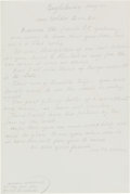 """Autographs:Artists, Anna Mary Robertson Moses - """"Grandma Moses"""" Autograph Letter Signed """"Mrs. T. S. Moses."""" One page, 6.5"""" x 10"""", in pencil,..."""