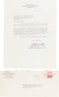 "Autographs:Military Figures, Henry ""Hap"" Arnold Typed Letter Signed ""H. H. Arnold."" ..."