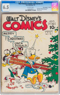 "Golden Age (1938-1955):Cartoon Character, Walt Disney's Comics and Stories #4 Davis Crippen ""D Copy"" pedigree(Dell, 1941) CGC FN+ 6.5 Off-white pages...."