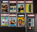 Baseball Cards:Lots, 1950's-70's Baseball & Football Stars to HoFers Collection (8)....