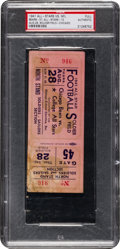 Football Collectibles:Tickets, 1941 College All Stars vs. Chicago Bears Full Ticket - Jackie Robinson Plays for College Gridiron Team. ...