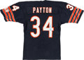 Football Collectibles:Uniforms, Walter Payton Signed Chicago Bears Jersey....