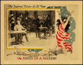 "Movie Posters:Drama, The Birth of a Nation (David W. Griffith Corp., R-1920s). LobbyCard (11"" X 14"").. ..."