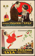 "Movie Posters:Drama, Zaza (Paramount, 1923). Title Lobby Card & Lobby Card (11"" X14"").. ... (Total: 2 Items)"