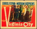 "Movie Posters:Western, Virginia City (Warner Brothers, 1940). Lobby Card (11"" X 14"").. ..."