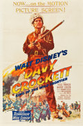 "Movie Posters:Western, Davy Crockett, King of the Wild Frontier (Buena Vista, 1955). One Sheet (27"" X 41"").. ..."
