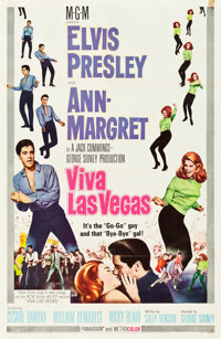 """Viva Las Vegas (MGM, 1964). One Sheet (27"""" X 41"""") Style A & Lobby Cards (7) (11"""" X 14""""). ... (To..."""
