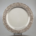 Silver Holloware, American:Plates, A KIRK & SON SILVER REPOUSSÉ CHARGER. Samuel Kirk & Son,Baltimore, Maryland, circa 1890. Marks: S. KIRK & SON.STERLING, ...