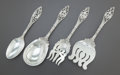 Silver Flatware, American:Dominick & Haff, FOUR DOMINICK & HAFF LABORS OF CUPID PATTERN SILVERSERVING PIECES. Dominick & Haff, New York, New York, designe...(Total: 4 Items)