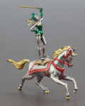 Silver Smalls:Other , A TIFFANY & CO. SILVER AND ENAMEL CIRCUS PERFORMER ATOP A HORSEDESIGNED BE GENE MOORE . Tiffany & Co., New York, New York, ...(Total: 2 Items)