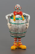 Silver Smalls:Other , A TIFFANY & CO. SILVER AND ENAMEL CIRCUS CLOWN IN A BARRELDESIGNED BY GENE MOORE. Tiffany & Co., New York, New York,circa ...