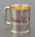 Silver Holloware, American:Cups, A GORHAM SILVER, SILVER GILT AND MIXED METAL CUP . GorhamManufacturing Co., Providence, Rhode Island, 1881. Marks:(lion-an...
