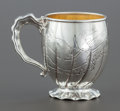 Silver Holloware, American:Cups, A GORHAM HIZEN PATTERN ACID-ETCHED SILVER AND SILVER GILTCUP. Gorham Manufacturing Co., Providence, Rhode Islan...