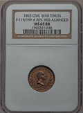 Civil War Patriotics, 1863 Washington - United States Medal, Reverse Die Misaligned, MS65Red and Brown NGC. Fuld-119/199a....