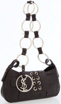 Luxury Accessories:Bags, Yves Saint Laurent Black Leather Shoulder Bag with Silver Hardware....