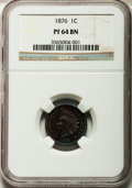 Proof Indian Cents: , 1876 1C PR64 Brown NGC. NGC Census: (16/14). PCGS Population (12/3). Mintage: 1,150. Numismedia Wsl. Price for problem free...