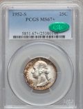 Washington Quarters, 1952-S 25C MS67+ PCGS. CAC....