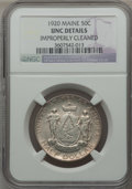 Commemorative Silver, 1920 50C Maine -- Improperly Cleaned -- NGC Details. UNC. NGCCensus: (1/2739). PCGS Population (14/3464). Mintage: 50,028....