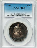 Proof Seated Half Dollars: , 1886 50C PR65 PCGS. PCGS Population (18/20). NGC Census: (24/24). Mintage: 886. Numismedia Wsl. Price for problem free NGC/...