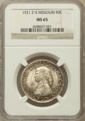 Commemorative Silver: , 1921 50C Missouri 2x4 MS65 NGC. NGC Census: (259/58). PCGSPopulation (281/28). Mintage: 5,000. Numismedia Wsl. Price for p...