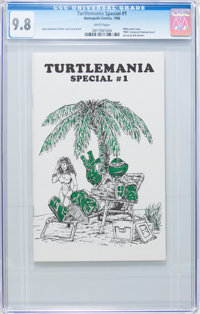 Turtlemania Special #1 plus Teenage Mutant Ninja Turtles #5 (Metropolis Comics, 1985-86) CGC NM/MT 9.8 White pages.... (...
