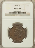 1826 1C MS62 Brown NGC. NGC Census: (24/54). PCGS Population (5/28). Mintage: 1,517,425. Numismedia Wsl. Price for probl...
