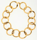 Luxury Accessories:Accessories, Chanel Oversize Gold Chain Link Necklace . ...