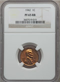 Proof Lincoln Cents: , 1942 1C PR65 Red and Brown NGC. NGC Census: (66/16). PCGSPopulation (38/5). Mintage: 32,600. Numismedia Wsl. Price forpro...