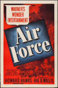 """Air Force (Warner Brothers, 1943). One Sheet (27"""" X 41""""). War"""