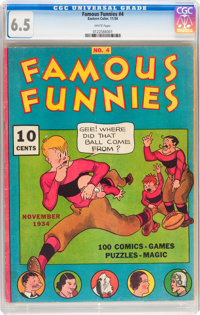 Famous Funnies #4 (Eastern Color, 1934) CGC FN+ 6.5 White pages