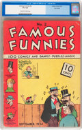 Platinum Age (1897-1937):Miscellaneous, Famous Funnies #2 Lost Valley pedigree (Eastern Color, 1934) CGC VG4.0 Cream to off-white pages....