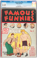 Platinum Age (1897-1937):Miscellaneous, Famous Funnies #3 (Eastern Color, 1934) CGC GD 2.0 Brittle pages....