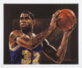 Basketball Collectibles:Others, 1997 Magic Johnson Signed Stephen Holland Giclee....