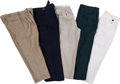 Baseball Collectibles:Others, Stan Musial Owned & Worn Pants Lot of 5....