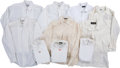 Baseball Collectibles:Others, Circa 1990 Stan Musial Worn Dress Shirts Lot of 10....