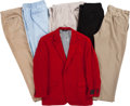 Baseball Collectibles:Others, 1980's Stan Musial Blazer and Five Pairs of Pants....