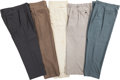 Baseball Collectibles:Others, Circa 1980 Stan Musial Owned & Worn Pants Lot of 5....