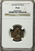 Proof Jefferson Nickels: , 1939 5C Reverse of 1938 PR64 NGC. NGC Census: (73/438). PCGSPopulation (282/1220). Mintage: 12,535. Numismedia Wsl. Price ...