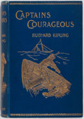 Books:Literature Pre-1900, Rudyard Kipling. Captains Courageous. London: Macmillan,1897. First edition. Publisher's decorated cloth with light...