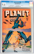 Golden Age (1938-1955):Science Fiction, Planet Comics #48 (Fiction House, 1947) CGC NM+ 9.6 Off-white towhite pages....