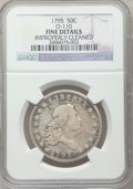 Early Half Dollars, 1795 50C 2 Leaves -- Improperly Cleaned -- NGC Details. Fine.O-110, R.4....